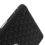 Hybridní kamínkové pouzdro pro iPad mini- černé - 6/7