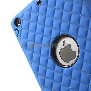 Hybridní kamínkové pouzdro pro iPad mini- modré - 6