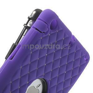 Hybridní kamínkové pouzdro pro iPad mini- fialové - 6