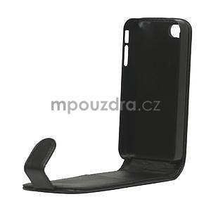 Flipové pouzdro pro iPhone 4, 4s- černé - 6