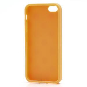 Gelové PUNTÍK pouzdro pro iPhone 5, 5s- oranžové - 6