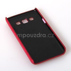PU kožený/plastový kryt se stojánkem na Samsung Galaxy A3 - rose - 6