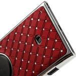 Drahokamové pouzdro pro Nokia Lumia 1020- červené - 6/6