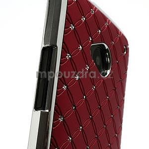 Drahokamové pouzdro pro HTC one M7- červené - 6