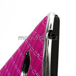 Drahokamové pouzdro pro HTC one M7- růžové - 6