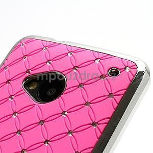 Drahokamové pouzdro pro HTC one M7- světlerůžové - 6
