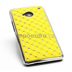 Drahokamové pouzdro pro HTC one M7- žluté - 6