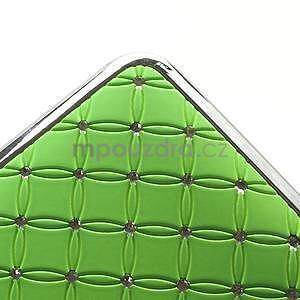 Drahokamové pouzdro pro HTC one M7- zelené - 6