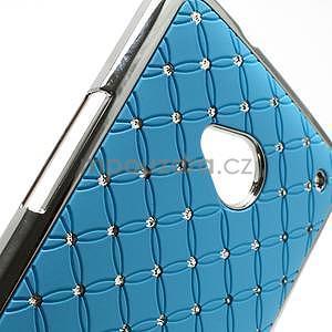 Drahokamové pouzdro pro HTC one M7- světlemodré - 6