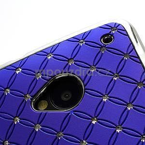 Drahokamové pouzdro pro HTC one M7- modré - 6