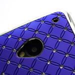 Drahokamové pouzdro pro HTC one M7- modré - 6/6