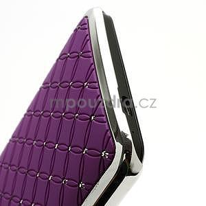Drahokamové pouzdro pro HTC one M7- fialové - 6