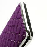 Drahokamové pouzdro pro HTC one M7- fialové - 6/6