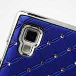 Drahokamové pouzdro pro LG Optimus L9 P760- modré - 6/7