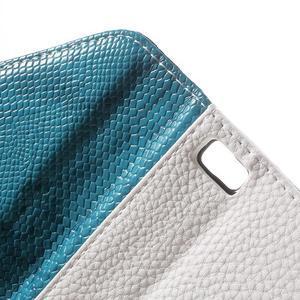 Luxusní peněženkové pouzdro na Huawei P8 Lite - bílé / modrozelené - 6