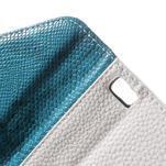 Luxusní peněženkové pouzdro na Huawei P8 Lite - bílé / modrozelené - 6/7