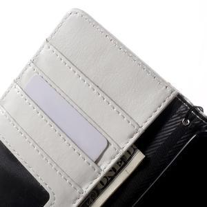 Luxusní peněženkové pouzdro na Huawei P8 Lite - bílé / rose - 6