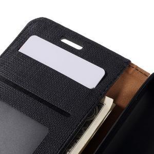 Cloth PU kožené pouzdro na mobil Microsoft Lumia 550 - černé - 6
