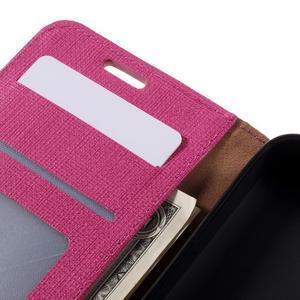 Cloth PU kožené pouzdro na mobil Microsoft Lumia 550 - rose - 6