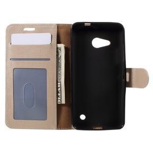 Cloth PU kožené pouzdro na mobil Microsoft Lumia 550 - champagne - 6