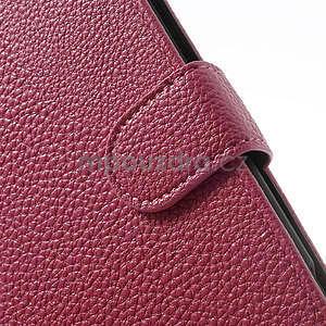 Peněženkové pouzdro pro Nokia Lumia 1320- růžové - 6