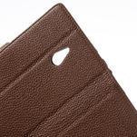 Peněženkové pouzdro pro Nokia Lumia 1320- hnědé - 6/7