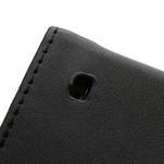 Flipové černé pouzdro na Nokia Lumia 520 - 6/7