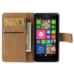 Peněženkové pouzdro na Nokia Lumia 630- černé - 6