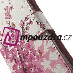 Peněženkové pouzdro na Sony Xperia L C2105- kvetoucí větvička - 6
