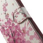 Peněženkové pouzdro na Sony Xperia L C2105- kvetoucí větvička - 6/7