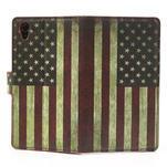 Peněženkové pouzdro na Sony Xperia Z1 C6903 L39- USA vlajka - 6/7