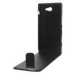 Flipové pouzdro na Sony Xperia M2 D2302 - černé - 6/7