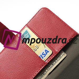 Peněženkové pouzdro na LG Optimus L9 II D605 - červené - 6
