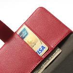 Peněženkové pouzdro na LG Optimus L9 II D605 - červené - 6/7