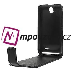 Flipové Cover PU kožené pouzdro na HTC Desire 310- černé - 6