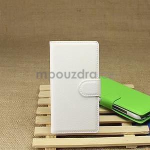 Peněženkové pouzdro pro HTC Desire 601- bílé - 6