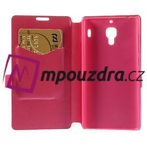 Peněženkové pouzdro na Xiaomi Hongmi Red Rice- růžové - 6