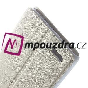 Peněženkové pouzdro na Xiaomi Hongmi Note- bílé - 6
