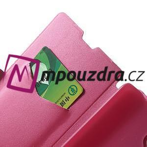 Peněženkové pouzdro na Xiaomi Hongmi Note- růžové - 6