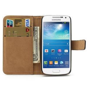 Peněženkové PU kožené pouzdro na Samsung Galaxy S4 mini i9190- černé - 6