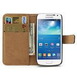 Peněženkové PU kožené pouzdro na Samsung Galaxy S4 mini i9190- černé - 6/7