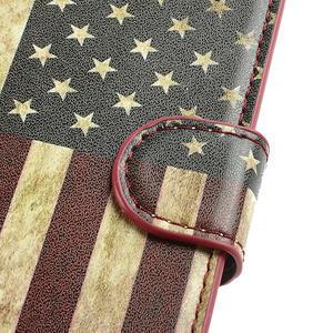Peněženkové pouzdro na Samsung Galaxy S3 i9300- USA vlajka - 6