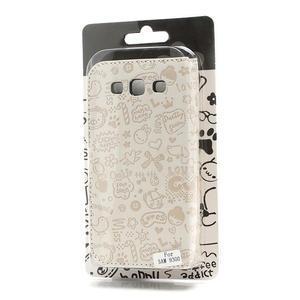 Peněženkové pouzdro na Samsung Galaxy S3 i9300- bílé - 6