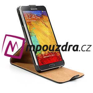 Flipové PU kožené pouzdro na Samsung Galaxy Note 3- černé - 6
