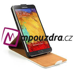 Flipové PU kožené pouzdro na Samsung Galaxy Note 3- bílé - 6
