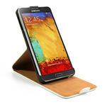 Flipové PU kožené pouzdro na Samsung Galaxy Note 3- bílé - 6/6