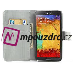 Peněženkové pouzdro na Samsung Galaxy Note 3- zebrované - 6
