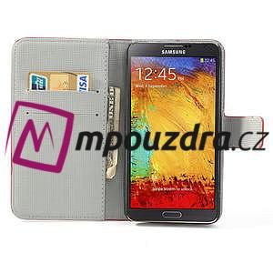 Peněženkové pouzdro na Samsung Galaxy Note 3- barevné květy - 6
