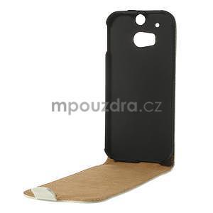Flipové pouzdro pro HTC one M8- bílé - 6