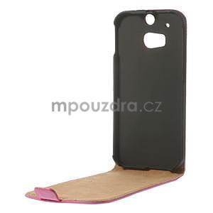 Flipové pouzdro pro HTC one M8-růžové - 6